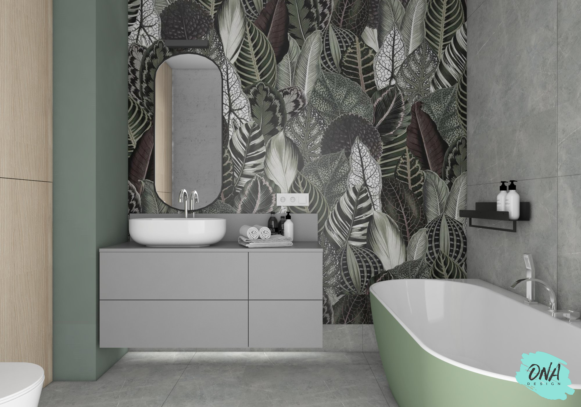 nowoczesna łazienka - projektowanie wnętrz gdańsk
