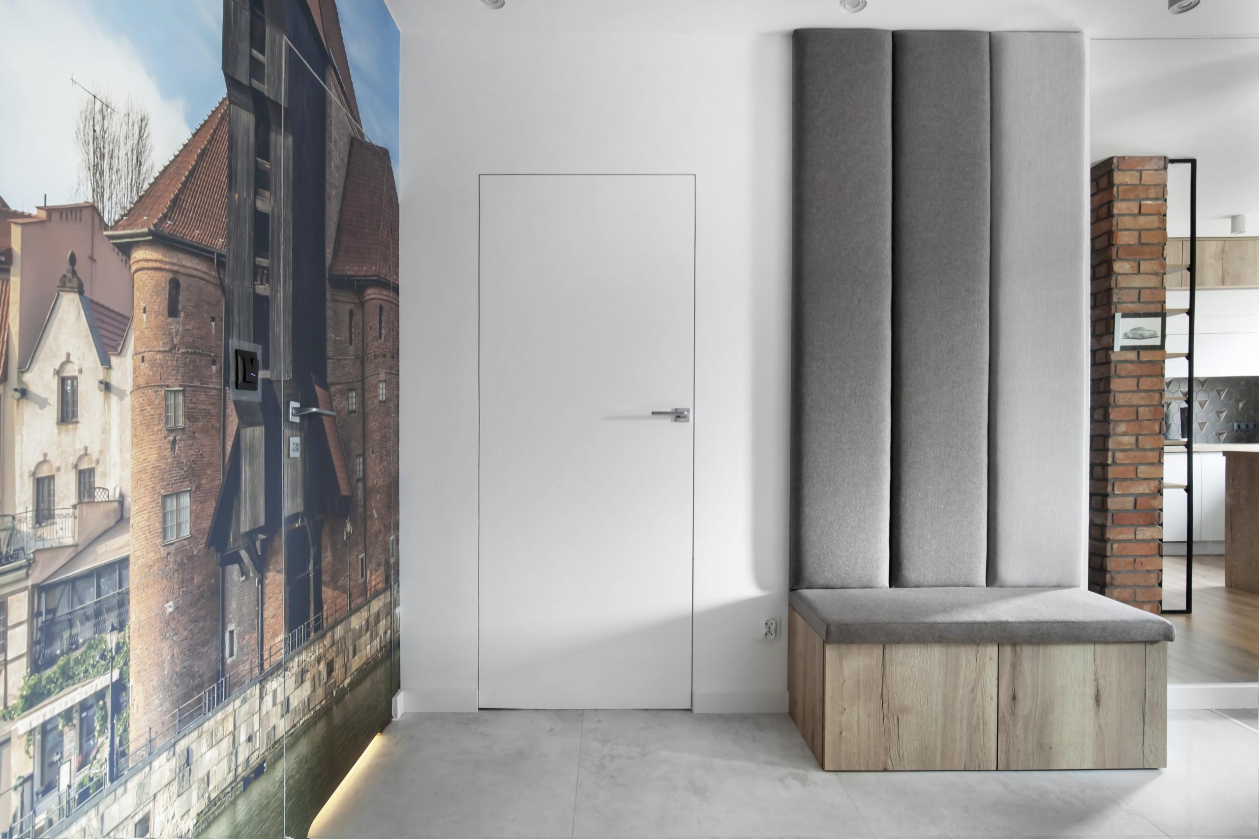 wnętrze w stylu nowoczesnym z elementami loft